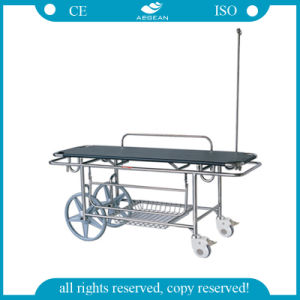 AG-HS016 Stainless Steel Frame Ambulance Stretcher with IV Pole pictures & photos