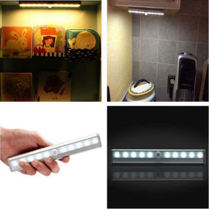 Newest 10 LED IR Infrared Motion Sensor Night Light Detector Wireless Tube Lamp Kitchen Wardrobe Cupboard Closet Cabinet Light pictures & photos