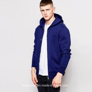Mens Plain Thick Fleece Zip up Hoodie pictures & photos