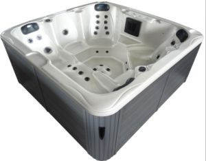 LED Acrylic Freestanding Hydro Massage Outdoor SPA Tub pictures & photos