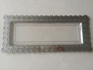 Plastic Tray with Silver Side (BT117-S)