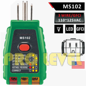 Professional 3 Wire GFCI Outlet Tester (MS102) pictures & photos