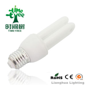 2u 7W T4 6000h CE RoHS Approved PBT Mix Powder Energy Saving CFL Lamp (CFL2UT46KH) pictures & photos