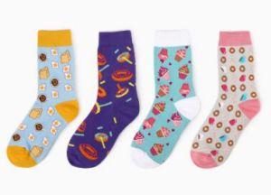 Custom Fashion Unisex Cotton Jacquard Knee High Sock pictures & photos