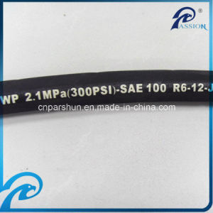 Single Fiber Braided SAE 100 R6 Rubber Hydraulic Hose pictures & photos