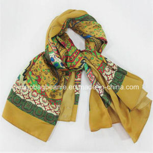 Newest Fashion Digital Print Silk Scarf Necklaces pictures & photos