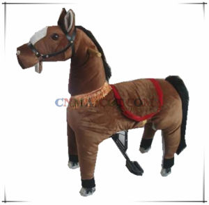 Good Sale Tan Color Mechanical Pony Ride Plush Toy Wholesale Price