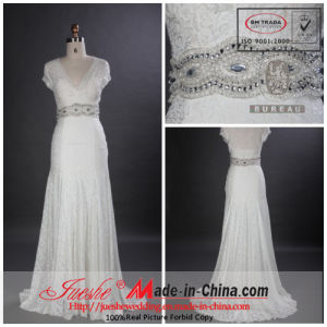 A-Line Lace Wedding Dress/Wedding Gown (7584)