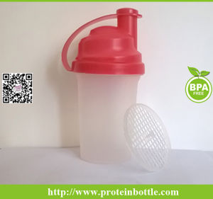 Plastic Shaker Bottle 400ml Shaker with Mixer pictures & photos