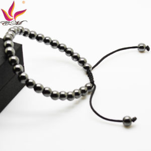 Htb014A Wholesale New Summer Fashion Girl′s Jewelry Black Color Strong Magnetic Hematite