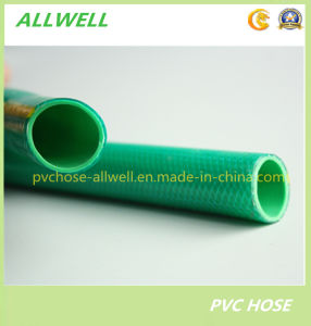 PVC Plastic Flexible Fiber Braided Reinforced Water Irrigation Pipe Garden Hose 25mm pictures & photos