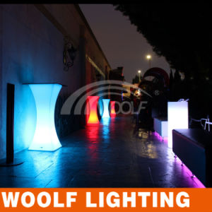 High Top LED Light Square Bar Tables pictures & photos