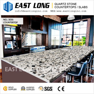 Artificial Marble Quartz Stone Slabs for Kitchen/Bathroom/Hotel Design pictures & photos