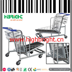 500kg Heavy Duty Warehouse Cargo Trolley Cart with Adjustable Platform pictures & photos
