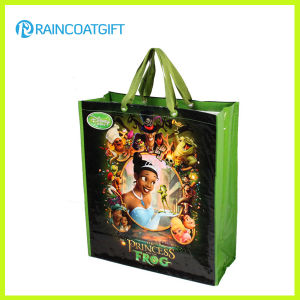 Advertising Custom Handbag Logo Printed PP Woven Bag Rbc-092 pictures & photos