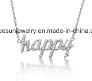 Fashion Silver Jewelry Happy Necklace pictures & photos