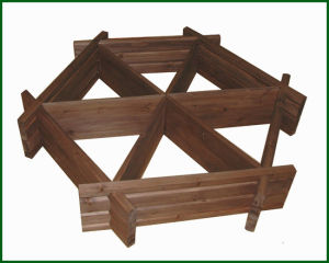Garden Wheel Herb Planter Balcony Vegetable Planting