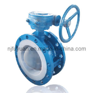 PTFE Lined Butterfly Valve D341 pictures & photos