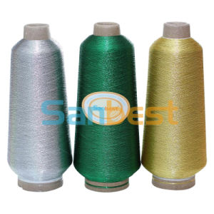 Metallic Embroidery Thread with Polyester or Rayon Core Yarn (Silver, Gold and Colors) pictures & photos