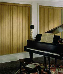 89mm Basswood Vertical Blinds with Manual UV-Resistant pictures & photos