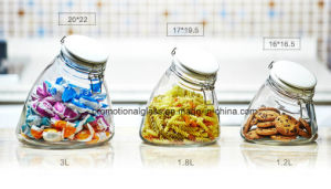 Special Glass Jar Set with Metal Clip Lid pictures & photos