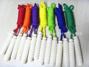 High Quality Jump Rope with Wooden Handle pictures & photos