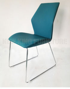 Modern Luxurious Fashion Chrome Steel Foot PU Leather Dining Chair (NK-DC061)