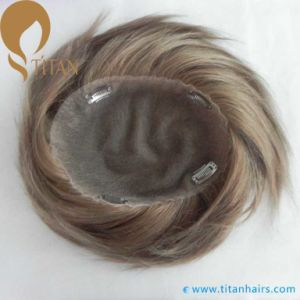 Invisible Knots Human Hair French Lace Toupee pictures & photos