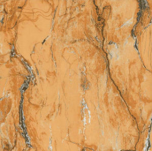 Yellow Marbling 6b020 Full Polished Porcelain Tile pictures & photos