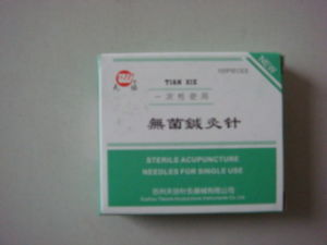 0.25x25 Mm Tianxie Brand Acupuncture Needle Without Tube pictures & photos