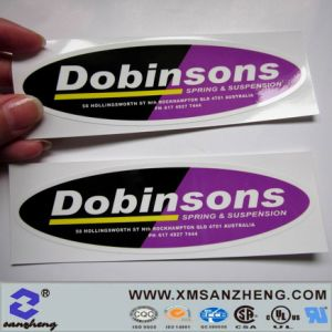 Pet Clear Glossy Permanent Weather Resistant Customs Logo Printing Stickers pictures & photos