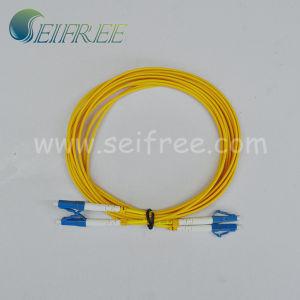 LC/Upc Duplex PVC Fiber Optic Patch Cord Cable pictures & photos