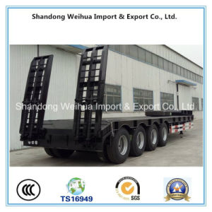 Reliable Operation 4 Axles Lowbed Semi Trailer From China Supplier pictures & photos