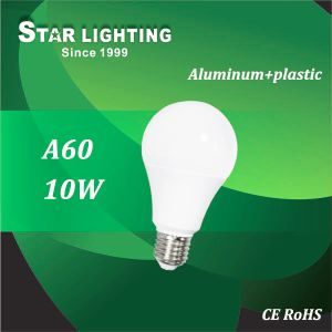 AC160~260V 10W A60 Aluminum Plastic LED Bulb pictures & photos