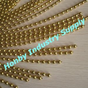 6mm Golden Color Metal Ball Bead Chain for Curtain Design