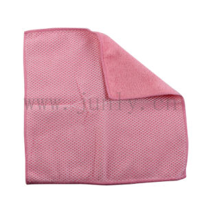 Pink Duplex Microfiber Cleaning Cloth (JL-157) pictures & photos