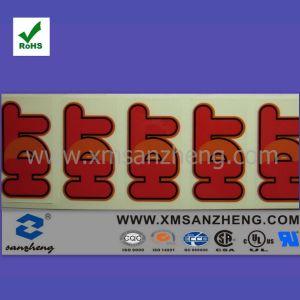 Customized Logo Print Transparent Adhesive Sticker (SZXY035) pictures & photos