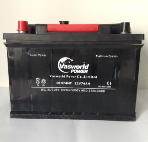 DIN 57412mf Maintenance Free Automobile Battery 12V74ah pictures & photos