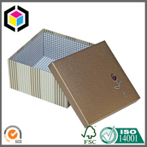 Silver Flower Logo Rigid Cardboard Paper Gift Box pictures & photos