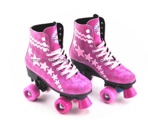 Kids Roller Skate Shoes with 4 Wheel (YVQ-002) pictures & photos