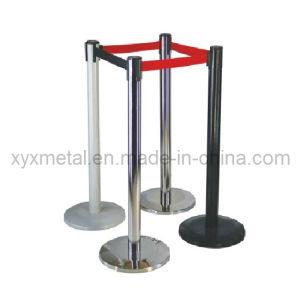Metal Crowd Control Barrier Queue Post Management System Retractable Belt Stanchion pictures & photos
