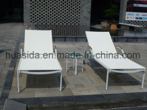 White Powder Coated Aluminum Swimming Pool Hotel Beach Sunbed pictures & photos