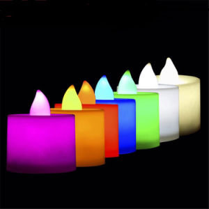Colorful Battery LED Candle with Key Control pictures & photos
