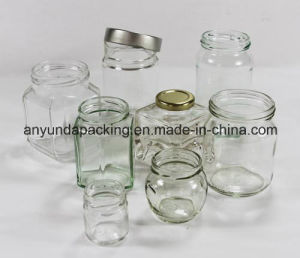 Clear Square Glass Pickle Bottles with Tin Lid