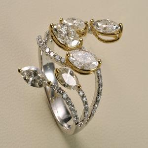 Gold Diamond Wedding Ring (9105)