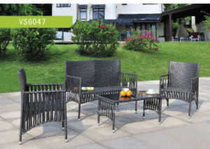 4 PCS Outdoor Patio Steel Profile Wicker Garden Set pictures & photos