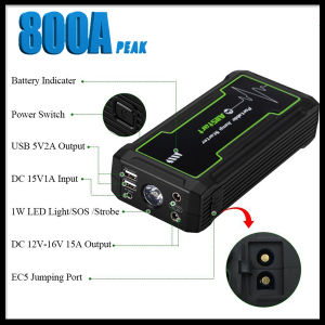 800A Peak 16800mAh Portable Car Jump Starter Power Bank Battery Booster pictures & photos