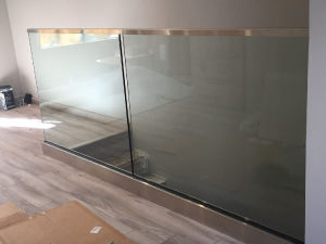 U Channel Frameless Glass Railing/Balustrade pictures & photos