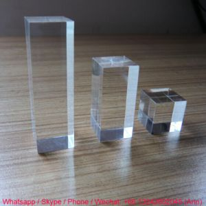 Custom Clear Acrylic Logo Block pictures & photos