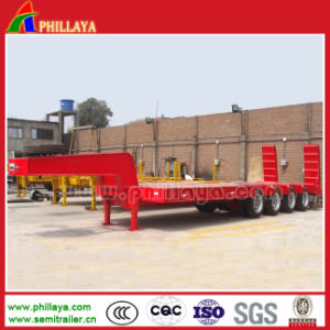 Heavy Loading 3 Axle Low Bed Semi Trailer for Transporter Machinery pictures & photos